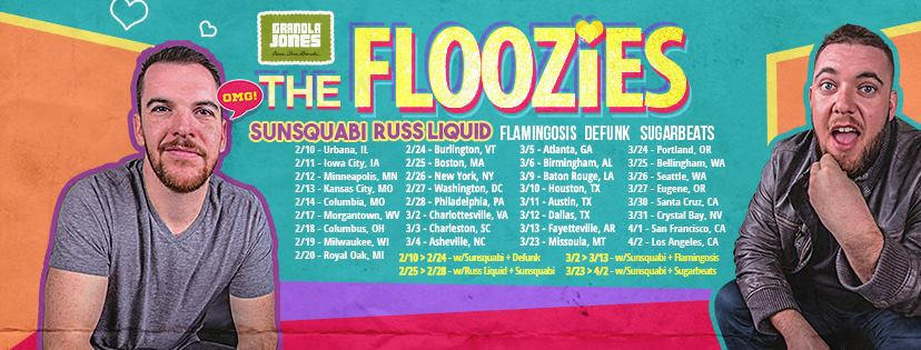 The Floozies - Granola Jones tour