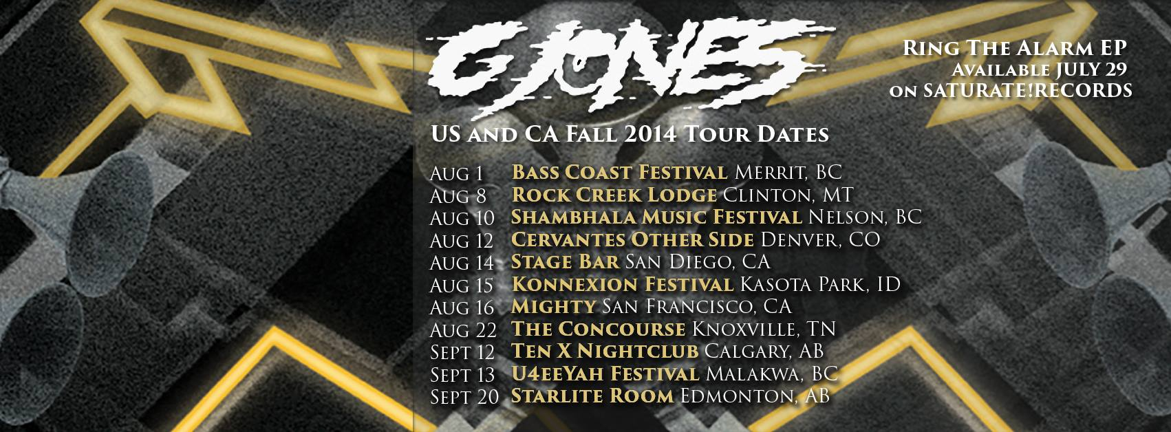 G Jones summer tour