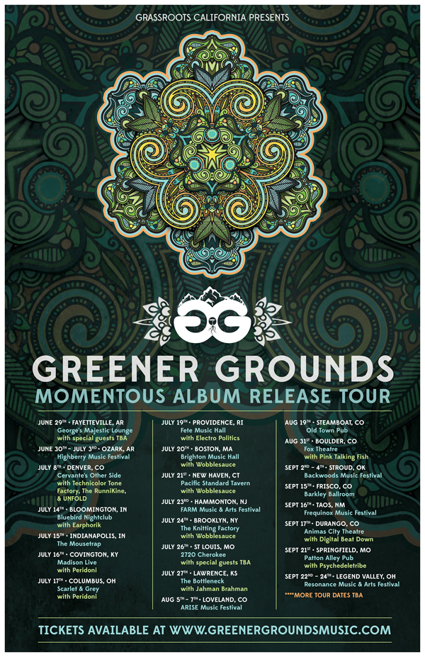 Greener Grounds summer tour 2016