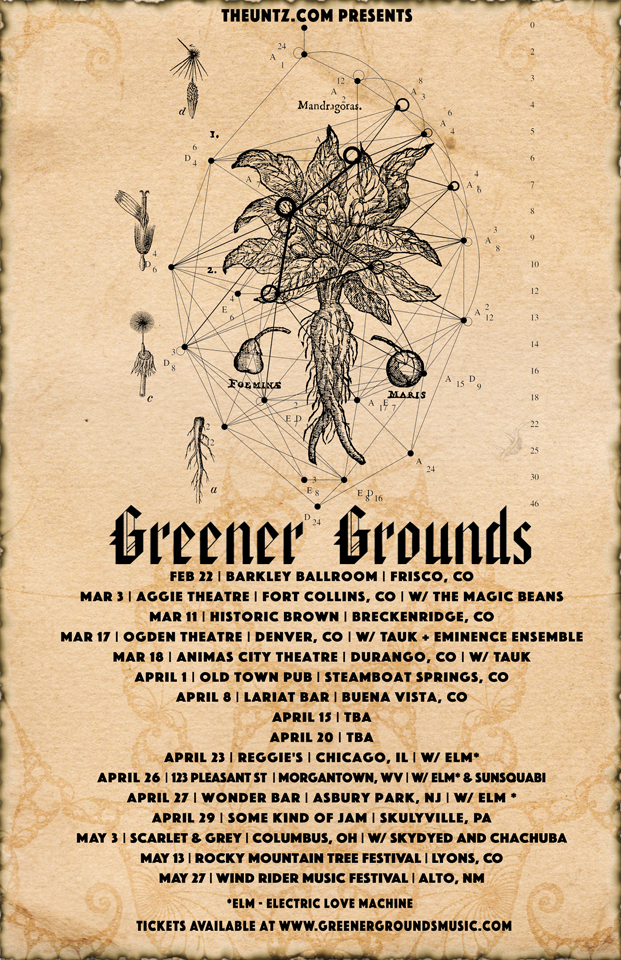 Greener Grounds spring 2017 tour