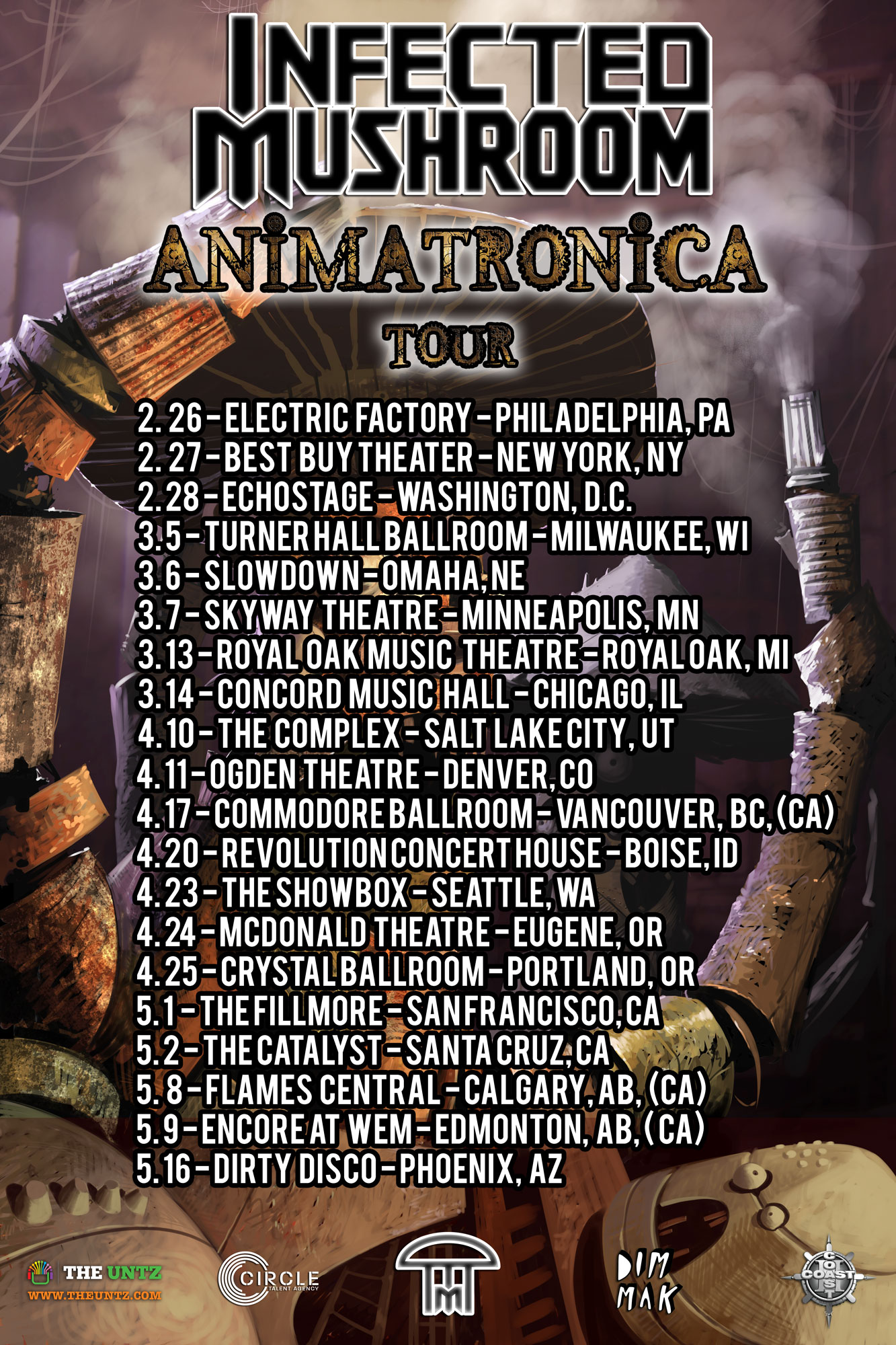 Infected Mushroom Songs Ele infected mushroom reveals animatronica live band tour dates