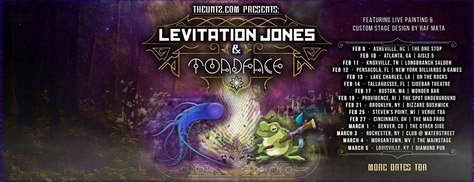 Levitation Jones x Toadface tour