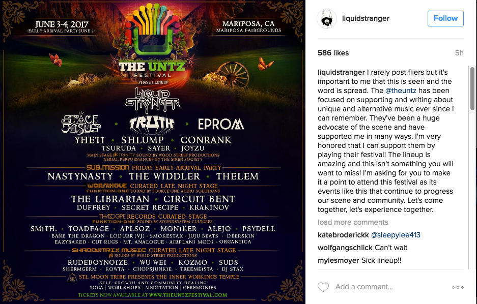 Liquid Stranger insta post