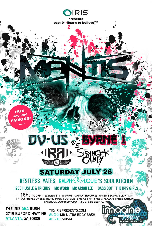 IRIS Presents hosts hometown heroes Mantis in Atlanta July 26