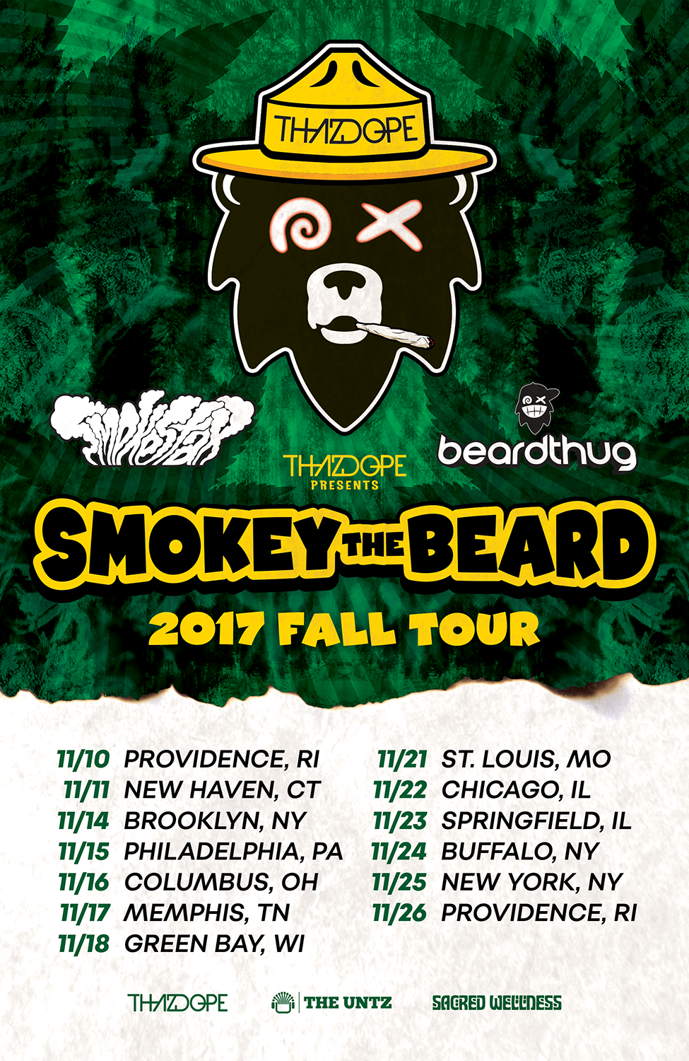Smokey The Beard tour