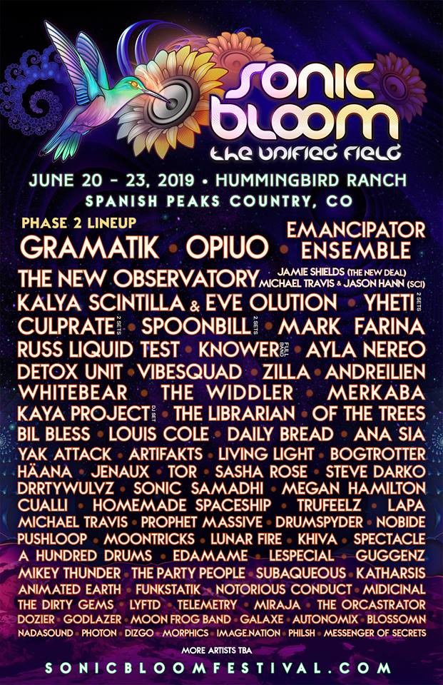 SONIC BLOOM 2019 Phase 2