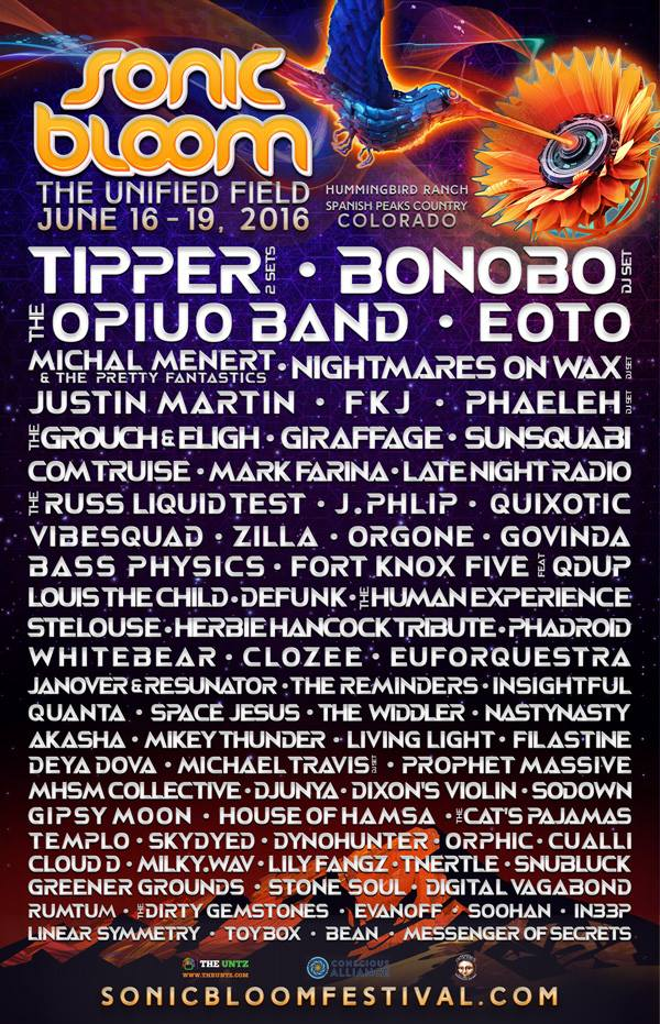 SONIC BLOOM 2016 Wave 2