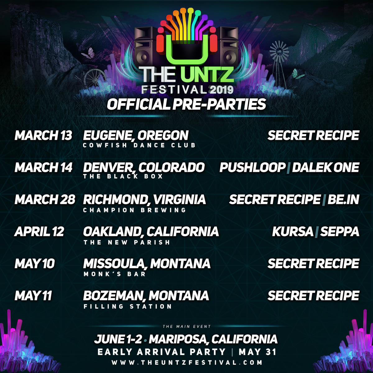 The Untz Festival 2019 Pre-Parties