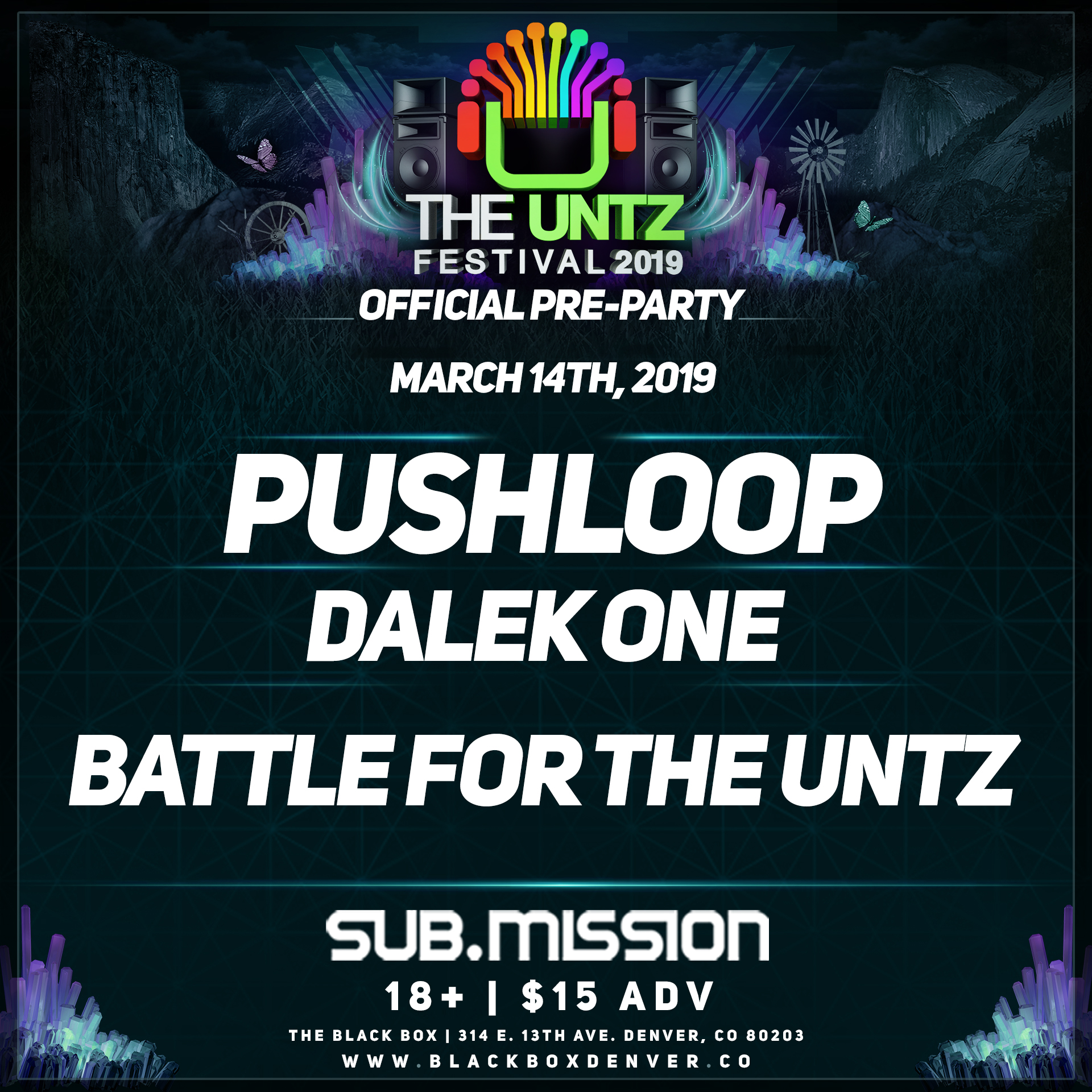 The Untz Festival Pre-Party Denver March 14