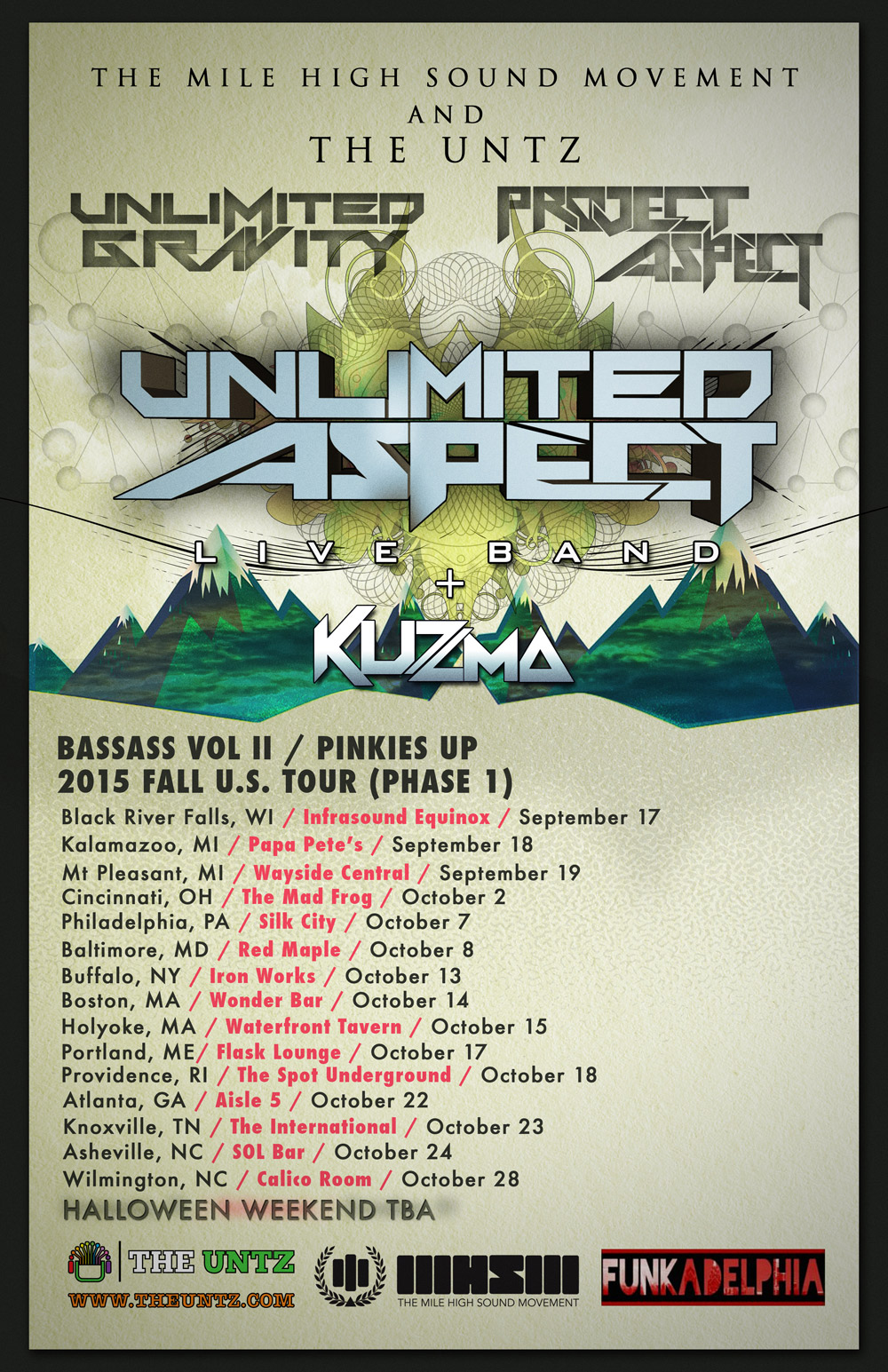 Unlimited Aspect live band tour