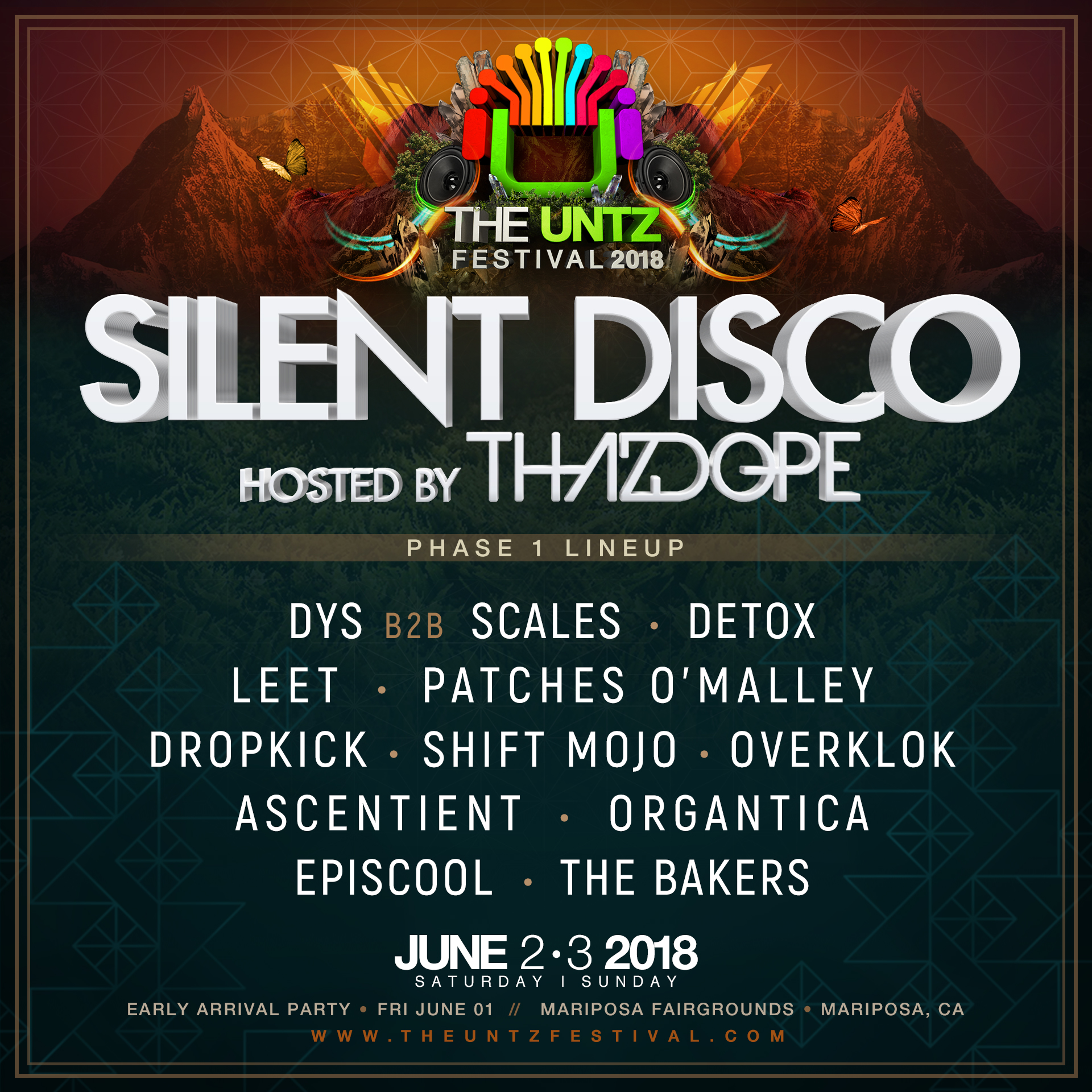 The Untz Festival 2018 Silent Disco