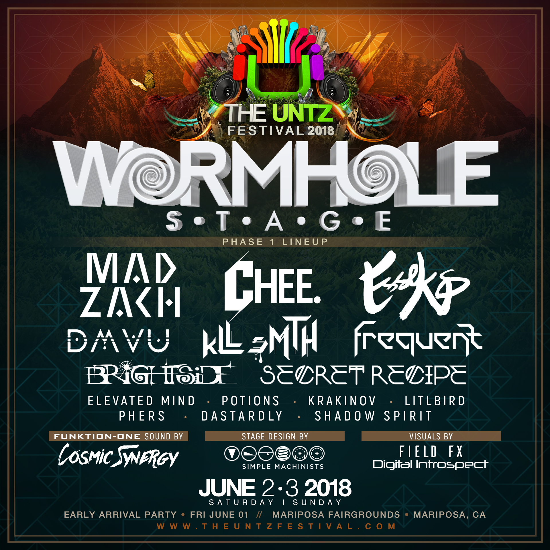 Wormhole stage The Untz Festival 2018