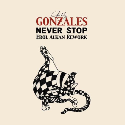 Album Art - Gonzales 'Never Stop' - Erol Alkan Rework