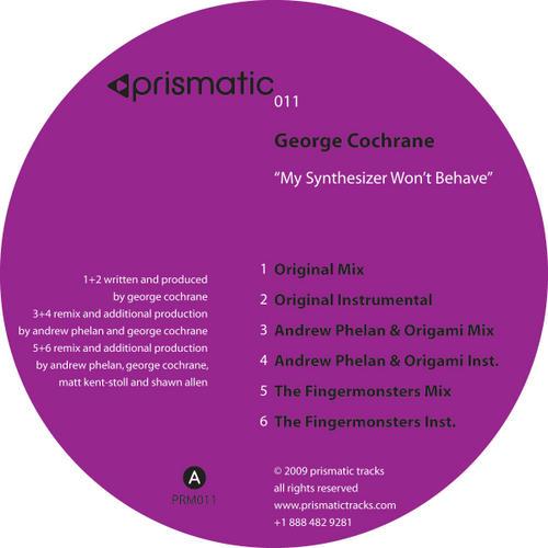 Album Art - My Synthesizer Won't Behave