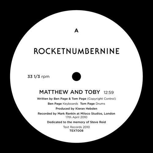 Album Art - Matthew & Toby (Original / Four Tet Remix)