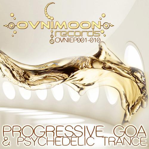 Album Art - Ovnimoon Records Progressive Goa and Psychedelic Trance EP's 1-10