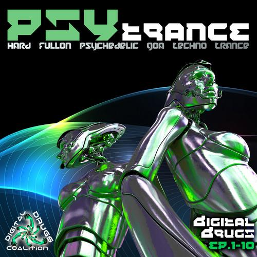 Album Art - Digital Drugs Coalition Psy Trance Hard Fullon Psychedelic Goa Techno EP's 1-10
