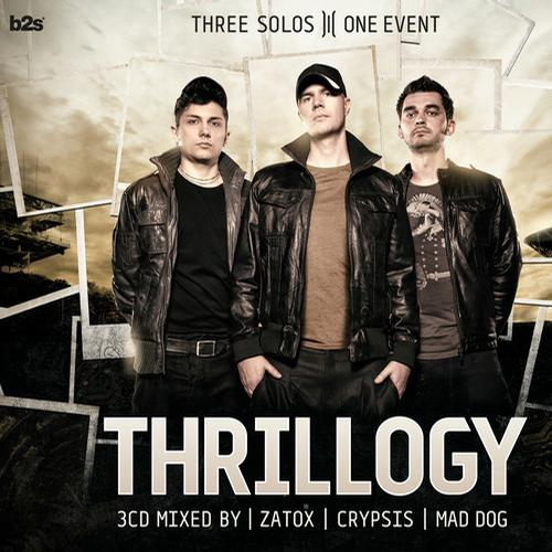 Album Art - Thrillogy 2012 mixed by Zatox, Crypsis and Mad Dog