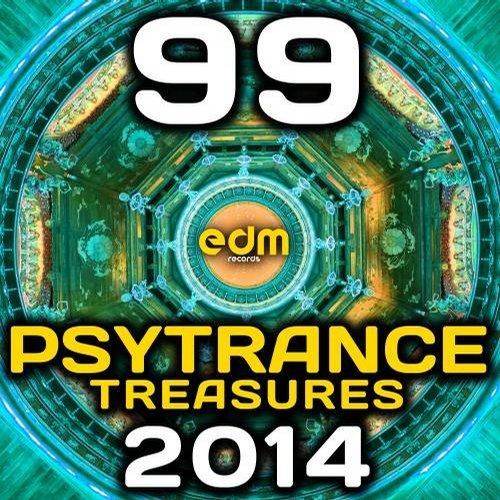 Album Art - Psy Trance Treasures 2014 - 99 Best of Top Full-on, Progressive & Psychedelic Goa Hits