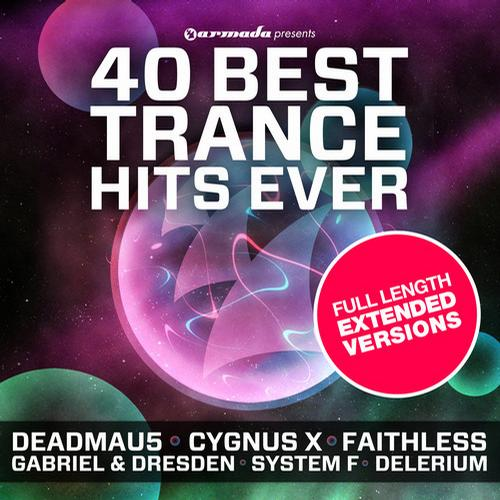 Album Art - 40 Best Trance Hits Ever - Full Length Extended Versions
