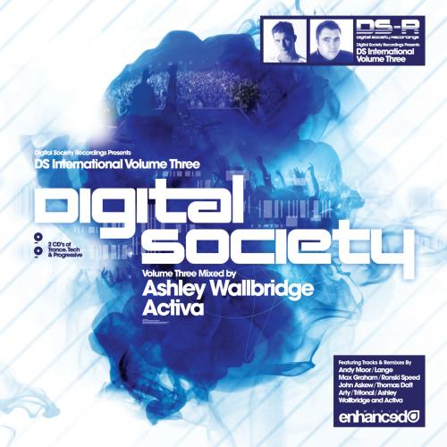 Album Art - Digital Society International - Volume Three - Mixed By Ashley Wallbridge & Activa
