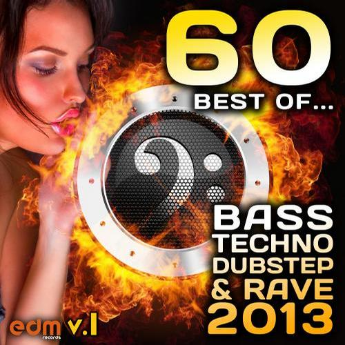 Album Art - 60 Best of Bass, Techno, Dubstep & Rave