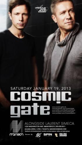 Cosmic Gate @ Mansion (01-19-2013)