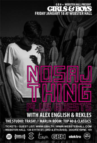 Nosaj Thing @ Webster Hall