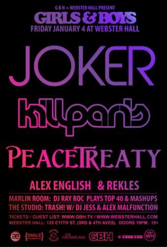 Joker, Kill Paris, & PeaceTreaty @ Webster Hall