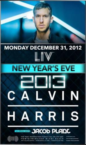 Calvin Harris New Years Eve @ LIV Nightclub
