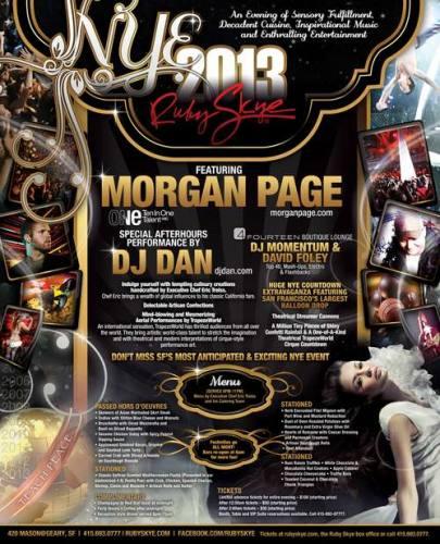 Ruby Skye NYE 2013 w/ Morgan Page + DJ Dan