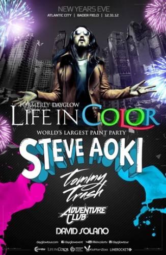 Life In Color NYE w/ Steve Aoki @ Bader Field
