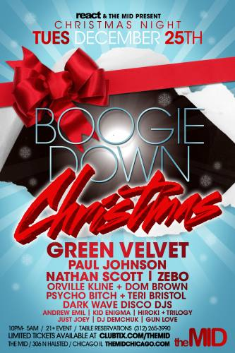 BOOGIE DOWN XMAS - GREEN VELVET - PAUL JOHNSON - MANY MORE - NO COVER WITH RSVP
