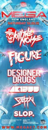 MEGA NEW ENGLAND FT KILL THE NOISE, FIGURE, DESIGNER DRUGS & AK1200