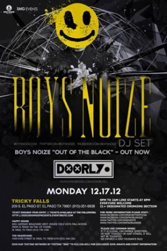 Boys Noize (DJ) w/ Doorly @ Tricky Falls
