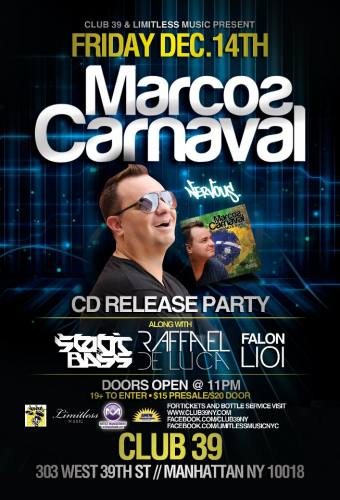 Limitless Music presents Marcos Carnaval
