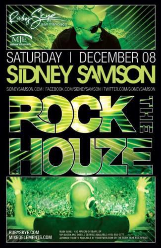 Sidney Samson @ Ruby Skye (12-08-2012)