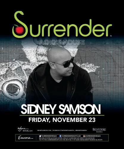 Sidney Samson @ Surrender Nightclub (11-23-2012)