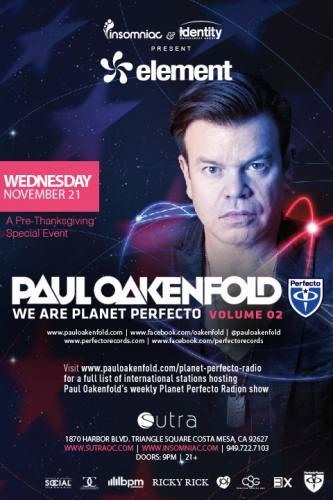Paul Oakenfold @ Sutra (11-21-2012)