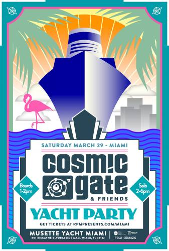 Cosmic Gate & Friends Miami Yacht Party