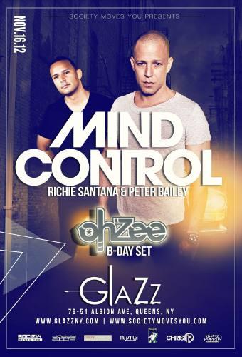 Glazz House Fridays w/ Mind Control & Ohzee 11/16