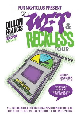 Dillon Francis + Clockwork + Baauer @ Fur Nightclub