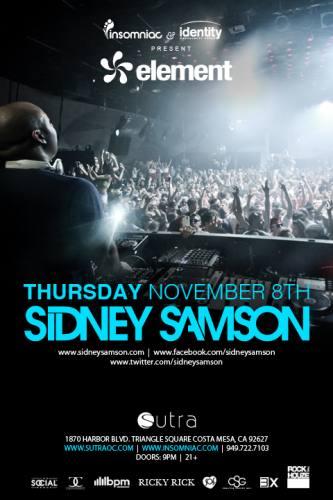 Sidney Samson @ Sutra