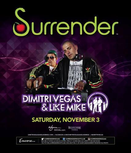 Dimitri Vegas & Like Mike @ Surrender Nightclub (11-03-2012)