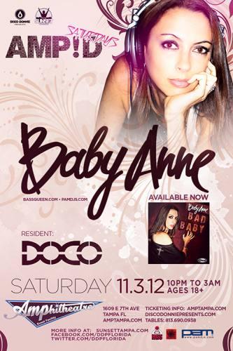Baby Anne @ Amphitheatre Event Facility