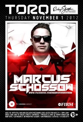 Marcus Schossow @ Ruby Skye (11-01-2012)