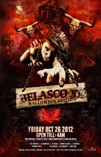 Belasco XL Halloween Edition at The Belasco  Friday, 26 October 2012