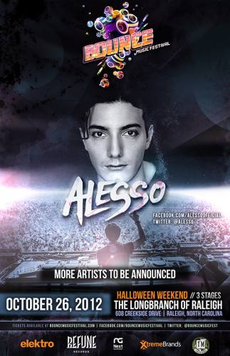 Bounce Music Festival Raleigh ft Alesso