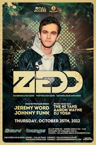 Zedd @ Lizard Lounge (10-25-2012)