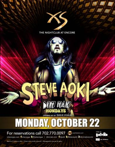 Steve Aoki @ XS Las Vegas (10-22-2012)